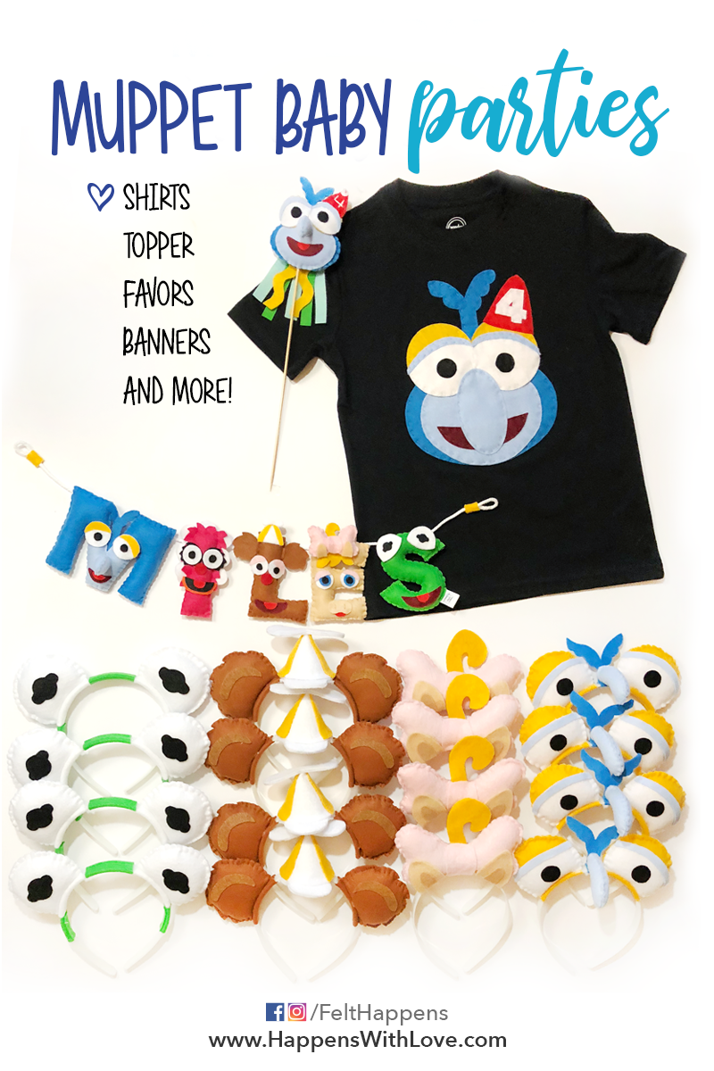 7a9e46e9c Muppet Baby Party Time | Handmade Craft Business | Felt Happens