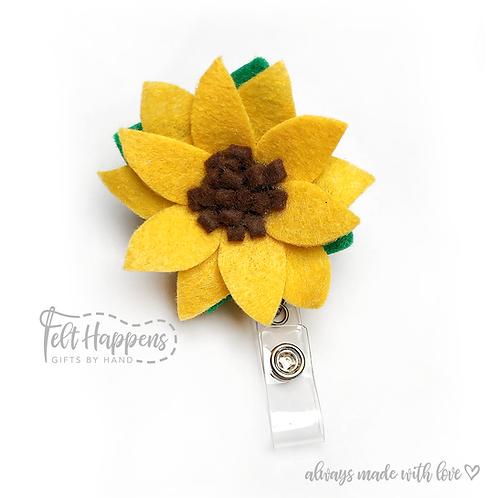 Sunflower Badge Holder