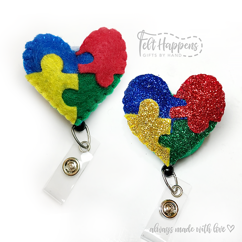 Autism Awareness Badge Holder