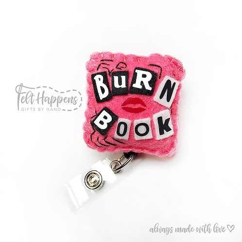 Burn Book Badge Holder