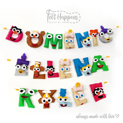 Muppet Baby Name Banner