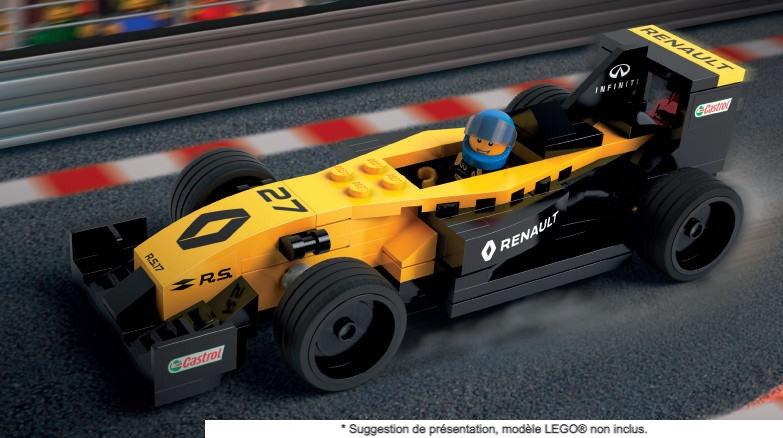 Vitrine BriquesaBoX pour Renault F1 Team R.S.17 (LEGO® non inclus)