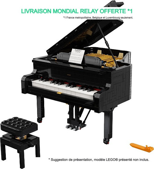 Vitrine BriquesaBoX pour Grand Piano  (LEGO® IDEAS 21323 non inclus)