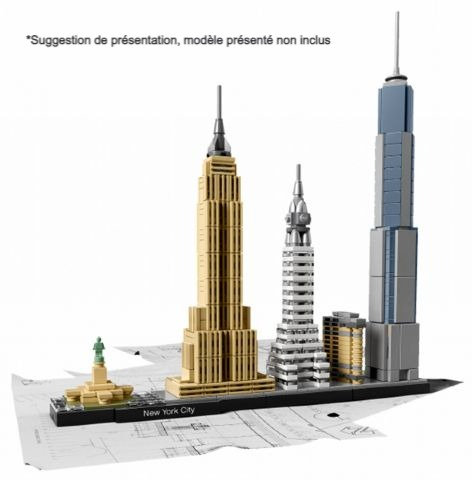 Vitrine BriquesaBoX pour Skyline New York City (LEGO® 21028 non inclus)