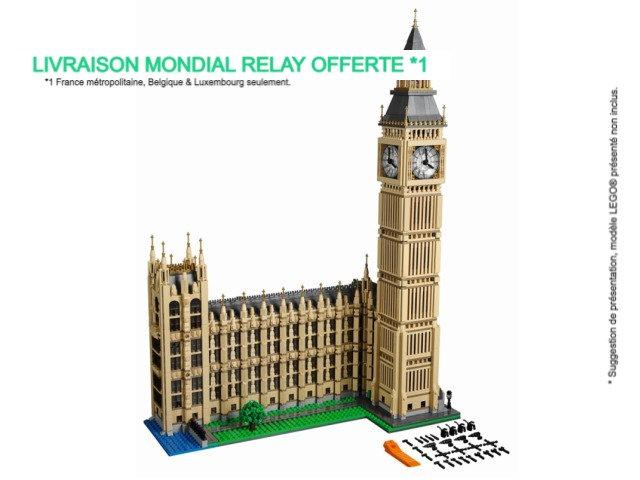 Vitrine BriquesaBoX pour Big Ben (LEGO® 10253 non inclus).