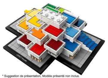 Vitrine BriquesaBoX pour Lego® House Billund (LEGO® 21037 non inclus)