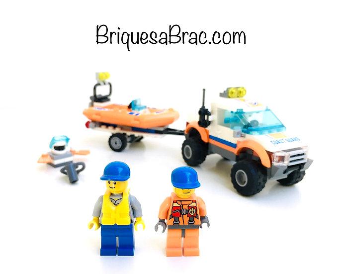LEGO ® CITY 60012 Le 4x4 et le bateau des gardes côtes