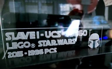 Gravure identité Vitrine BriquesaBoX pour UCS Slave 1 LEGO® STAR WARS 75060