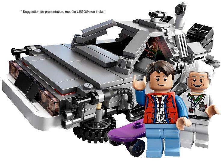 Vitrine BriquesaBoX pour The DeLorean Time Machi  (LEGO® IDEAS 21103 non inclus)