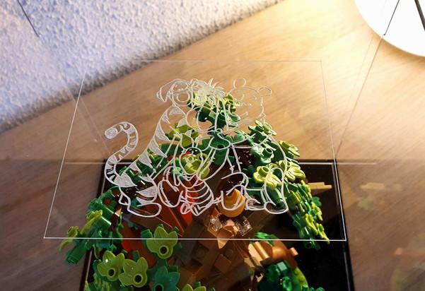 Vitrine d'exposition BriquesaBoX LEGO IDEAS WINNIE THE POOH 21326