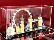 Vitrine Plexi BriquesaBoX Londres London lego® 21034 Architecture avec gravure identité du set et XL
