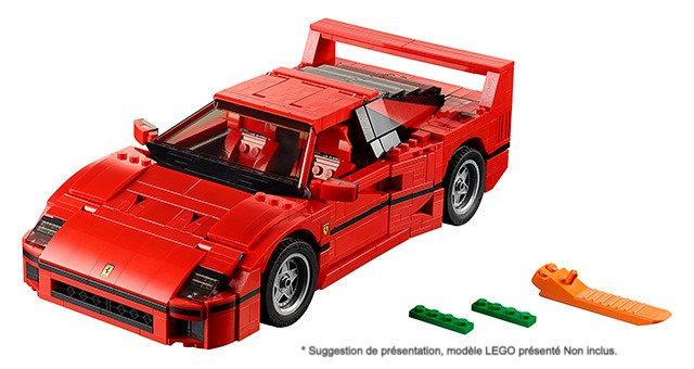 Taille XXL Vitrine BriquesaBoX pour Ferrari F40 (LEGO® 10248 non inclus)
