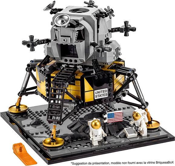 Vitrine BriquesaBoX pour Apollo 11 Lunar Lander (LEGO® 10266 non inclus).