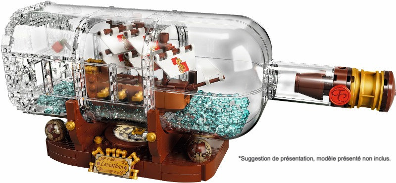 Vitrine BriquesaBoX pour Ship in a Bottle (LEGO® 21313 non inclus)