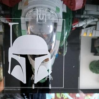 Gravure XL Capot Vitrine BriquesaBoX pour UCS Slave 1 LEGO® STAR WARS 75060