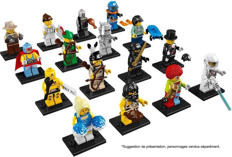 BriquesaBoX pour Series Minifigures LEGO® avec 16 emplacements (non fourni)