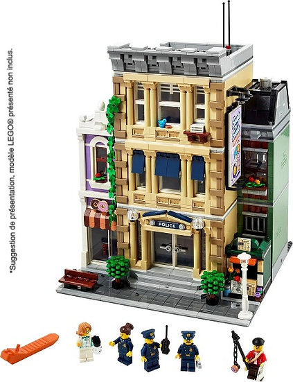Vitrine BriquesaBoX pour Police Station (LEGO® 10278 non inclus).