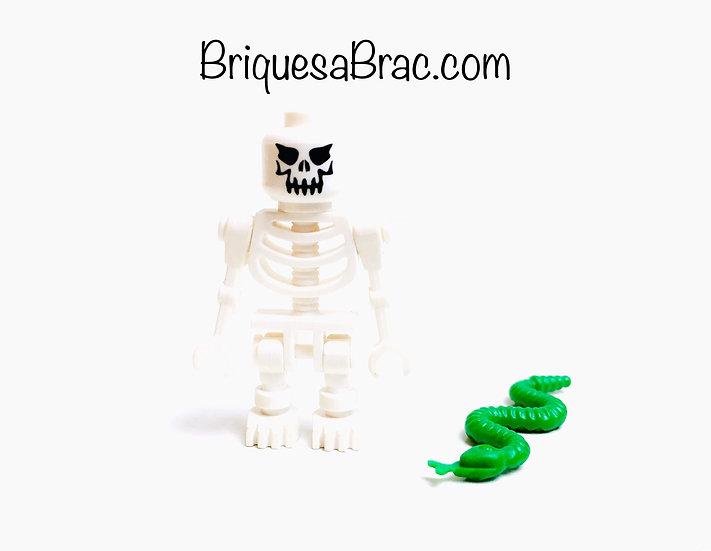 LEGO ® MINIFIGS 6299-23 Le squelette et son serpent (gen018)