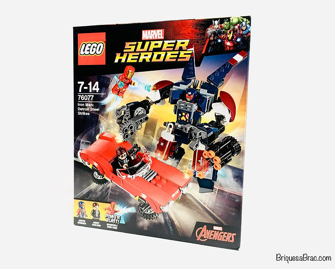LEGO ® MARVEL 76077 Iron Man: L'attaque de Detroit Steel
