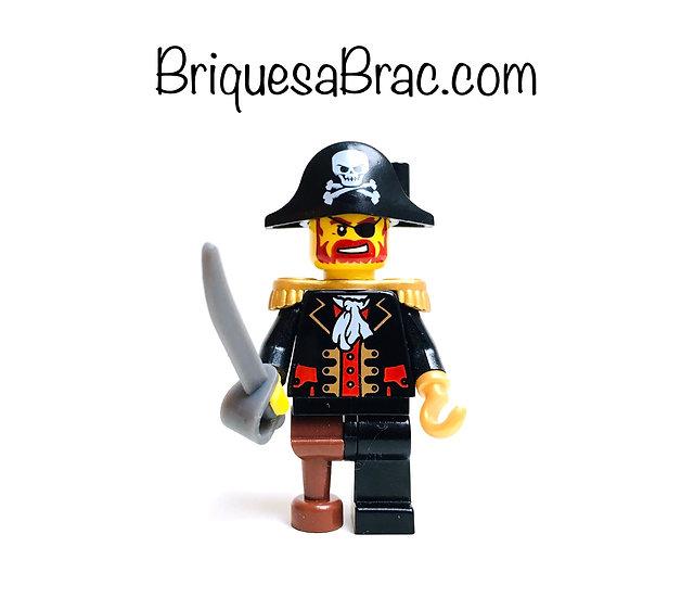 LEGO ® MINIFIGS 6299-2 Capitaine Brickbeard (pi081) + Accessoire