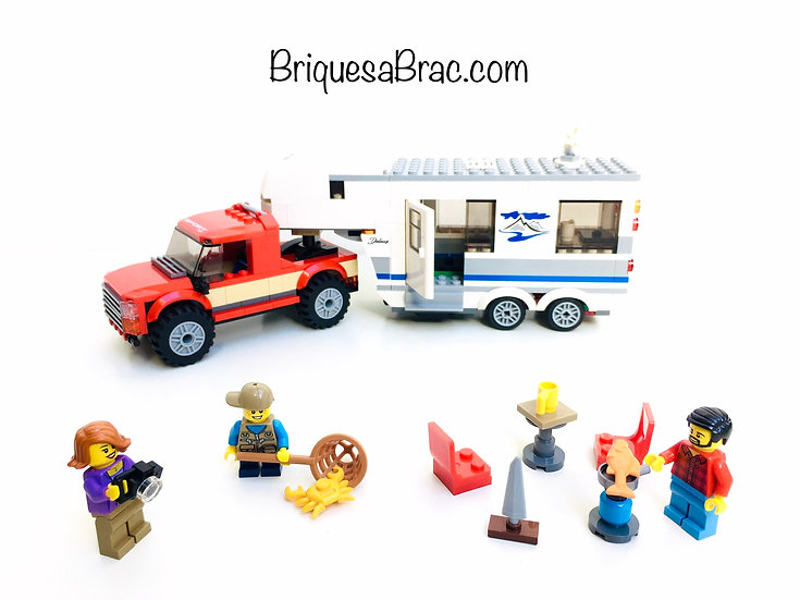LEGO ® CITY 60182 Le Pick-up et sa Caravane de camping