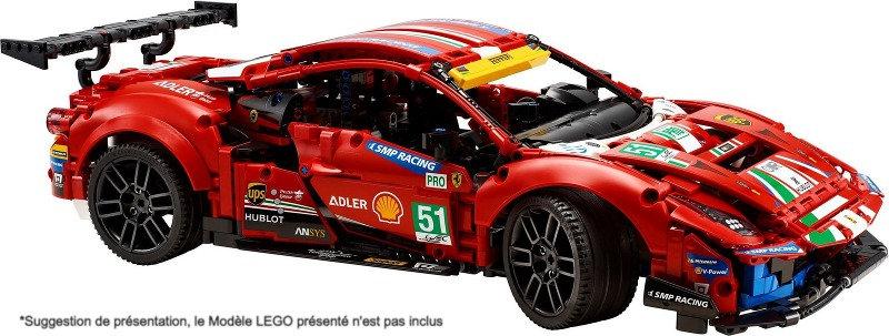 Vitrine BriquesaBoX pour FERRARI 488 GTE  (LEGO® 42125 non inclus)