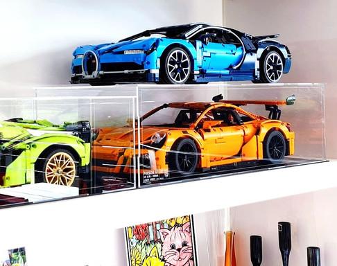 Vitrine Plexiglas BriquesaBoX LEGO® TECHNIC 42056 Porsche GT3 RS avec gravure ID du Set