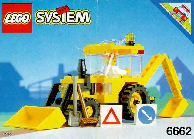 Lego Classic Town Backhoe Tractopelle 6662
