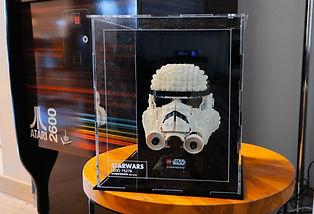Vitrine LEGO Plexiglas 75276 Star Wars Casque Stormtrooper