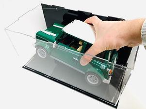 Vitrine d'exposition Plexiglas BriquesaBoX pour LEGO Mini cooper