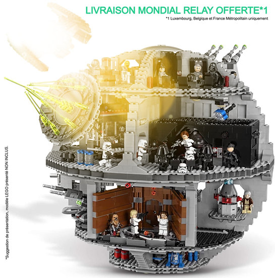 Vitrine BriquesaBoX pour Star-Wars Death Star - UCS (LEGO® 75159 non inclus)