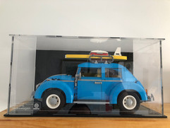 Vitrine BriquesaBoX TAILLE STANDARD LEGO® Porsche 911 avec gravure personnalisée du Set et Fond Noir