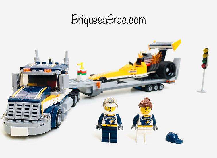 LEGO ® CITY RACE 60151 Le Transport du Dragster (Occasion)