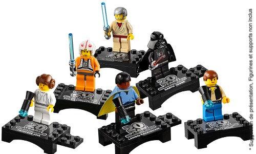Vitrine BriquesaBoX Star-Wars 20th Anniversary Ed. Serie 6 Minifigs (non inclus)