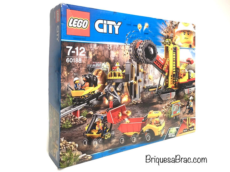 LEGO ® CITY 60188 La Mine et son site d'extraction (Neuf)