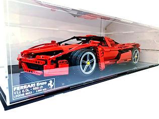Vitrine Plexiglas Briquesabox LEGO 8653 Ferrari ENZO