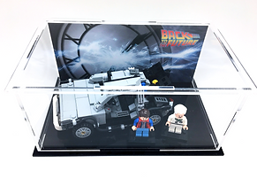 Vitrine Plexiglas BriquesaBoX LEGO 21103 The DeLorean Time Machine