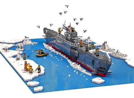 Le U-Boat et son Diorama glacial.