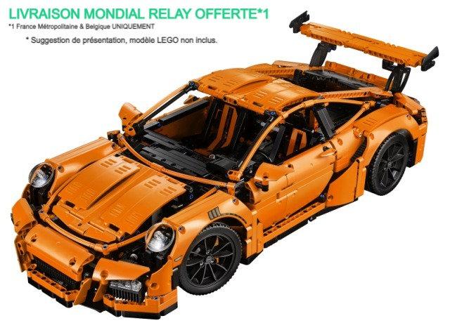 Vitrine BriquesaBoX pour Porsche GT3 RS (LEGO® 42056 non inclus)