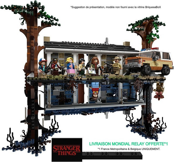 Vitrine BriquesaBoX pour Stranger Things (LEGO® 75810 non inclus)