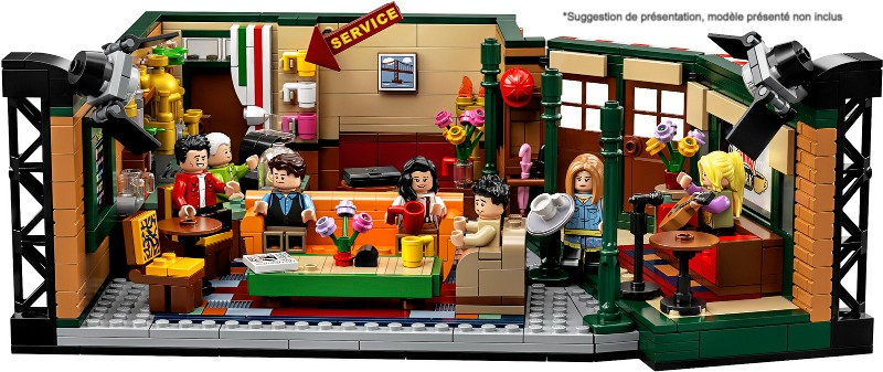 Vitrine BriquesaBoX pour Central Perk Friends (LEGO® 21319 non inclus)