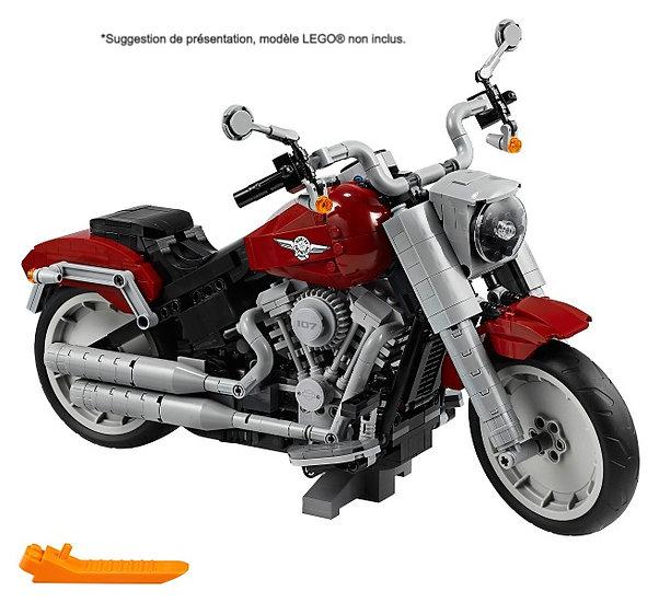 Vitrine BriquesaBoX pour Harley-Davidson Fat Boy (LEGO® 10269 non inclus)