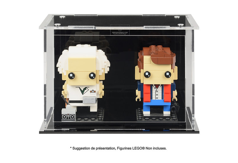 Vitrine BriquesaBoX pour couple figurines (LEGO® Brickheadz non inclus)