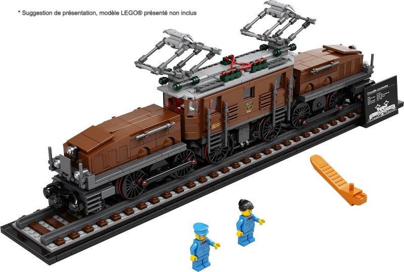 Vitrine BriquesaBoX pour Crocodile Locomotive (LEGO® 10277 non inclus)