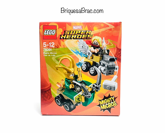 LEGO ® SUPER HEROES MARVEL AVENGERS 76091 Mighty Micros: Thor vs. Loki (Neuf)