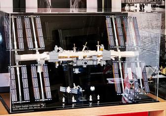 Vitrine Plexiglas BriquesaBox Pour Set LEGO® IDEAS 21321 International Space Station ISS