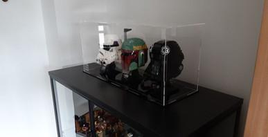 Vitrine BriquesaBoX casques Star Wars avec gravure personnalisée