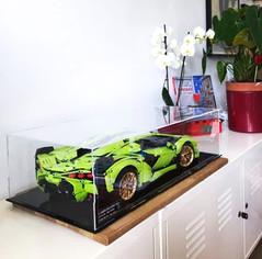 Vitrine BriquesaBoX LEGO® TECHNIC 42115 Lamborghini Sian avec gravure ID du Set