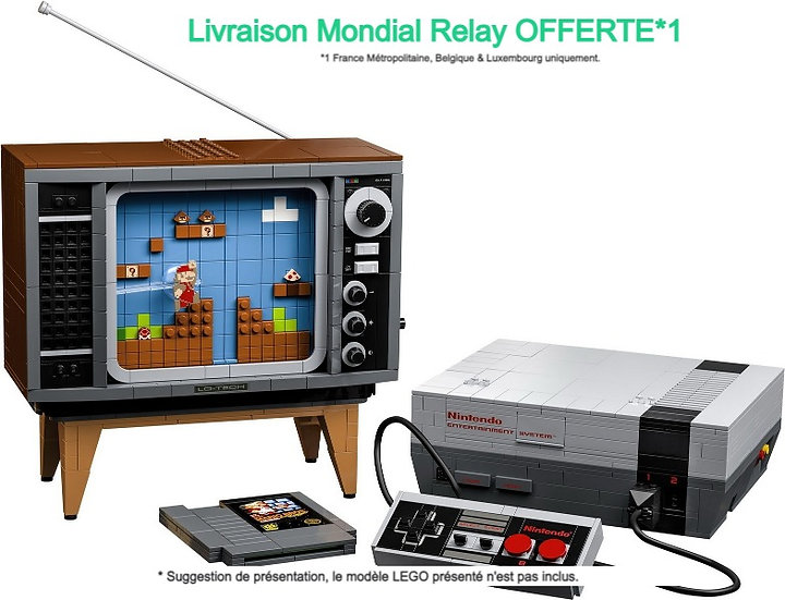 Vitrine BriquesaBoX pour Nintendo Entertainment System  (LEGO® 71374 non inclus)