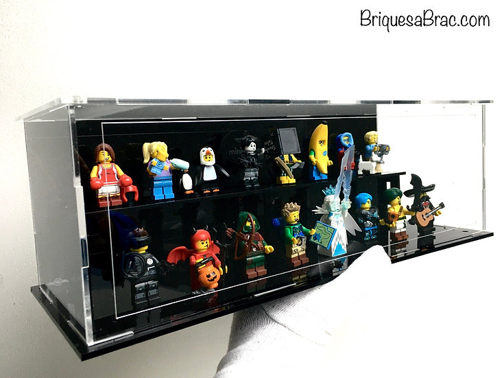 Vitrine BriquesaBoX Minifigs Series x20 (Figurines Non incluses)